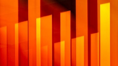 orange-abstract strip blocks