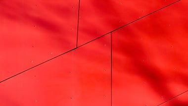 red irregular shaped tiles